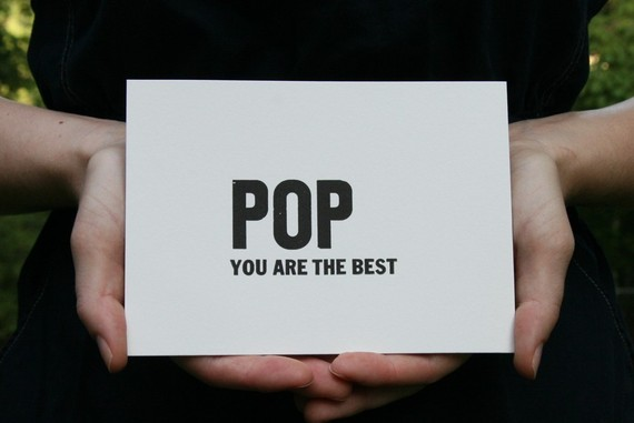 POP, you are the best - one flat letterpress card