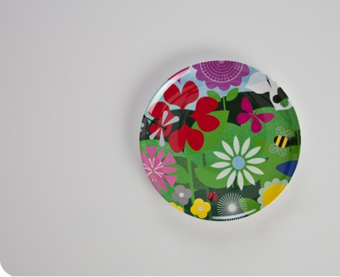Shape Symmetry Melamine Plate