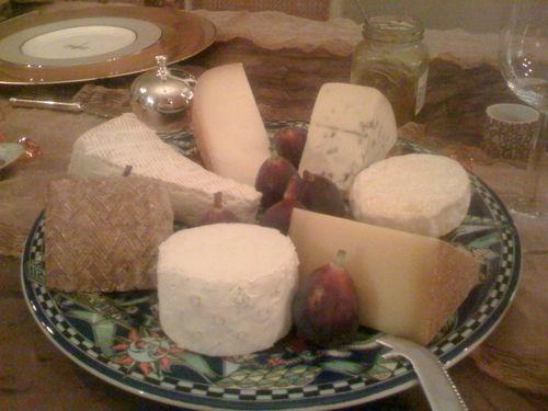 Apres dinner cheese platter.